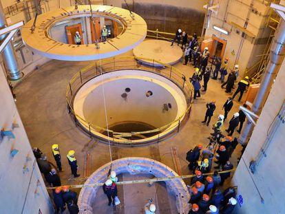 Instalaciones nucleares en Arak, al sur de Teherán.