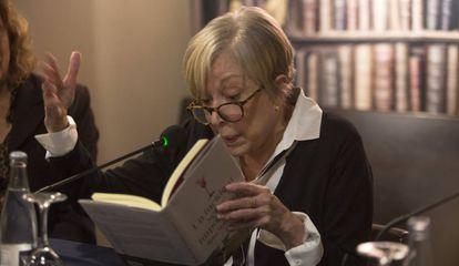Rosa Maria Sardà en la presentación de su libro.