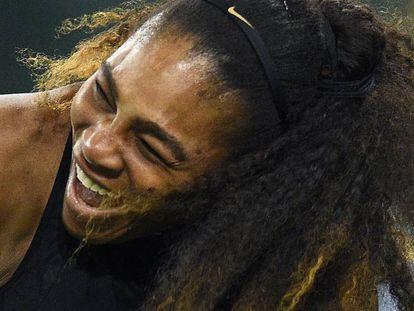 Serena Williams, durante un partido reciente en Indian Wells.