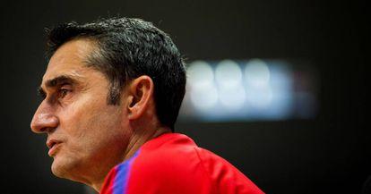 Valverde, durante la rueda de prensa de este sábado.