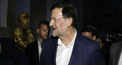 Rajoy, con la cara magullada tras el puñetazo que ha recibido.