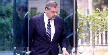 Gustavo de Arístegui, el 6 de mayo, en la Audiencia Nacional.
