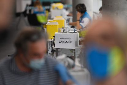 Puestos de vacunación en el recinto madrileño WiZink Center, en mayo.