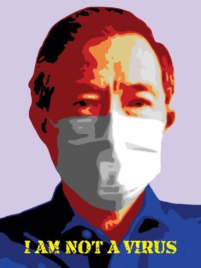 'I Am Not A Virus', obra de Nicolas Shi.