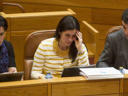 Paula Prado, en el Parlamento gallego, el pasado mes de marzo.