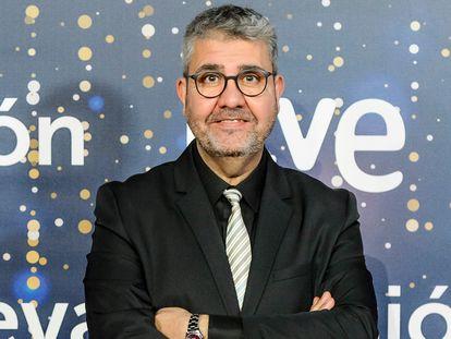 Florentino Fernandez durante la presentación de la programación navideña de RTVE en diciembre 2020, en Madrid.