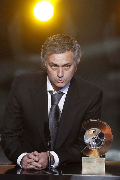 Mourinho, en Zúrich, tras recibir el premio al Mejor Entrenador.