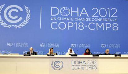 Ceremonia de apertura de la Cumbre del Clima de Naciones Unidas en Doha.