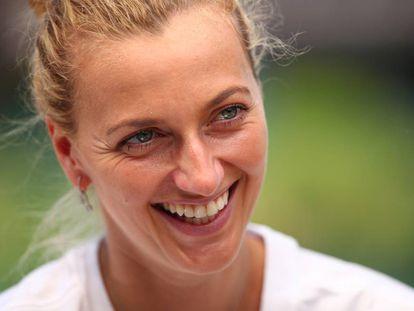 Petra Kvitova, en el All England Lawn Tennis & Croquet Club de Wimbledon.