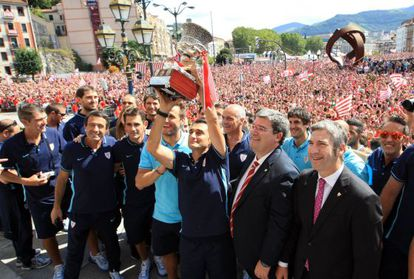 El Athletic celebra la Supercopa