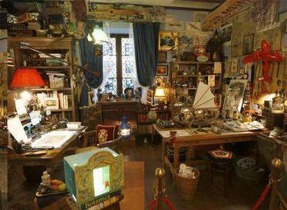 Una de sus salas, diseñada por el mismo Miyazaki para dar una idea de cómo debe ser el despacho de un animador.