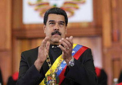 Nicolás Maduro en la ceremonia de apertura del año judicial el pasado febrero.