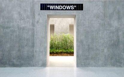 La arquitecta rumana participó en el diseño de la tienda OFF WHITE en Singapur.