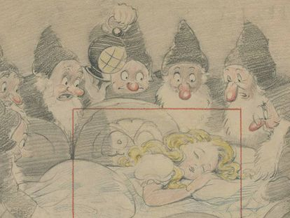 Dibujo del cuento 'Blancanieves y los siete enanitos', adaptado por Disney en 1937.