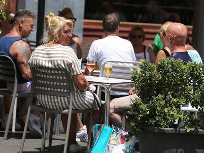 Turistas en Tenerife, este jueves.