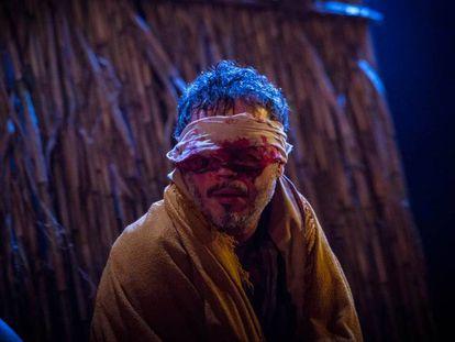 Julio Manrique en 'Èdip', de Sófocles, el año pasado en el Teatro Romea.