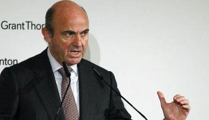El ministro de Economía y Competitividad, Luis de Guindos.