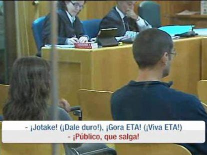 """Tres etarras expulsados del juicio en la Audiencia por gritar """"gora ETA"""""""