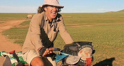 Biciclown, recorriendo las estepas de Mongolia.