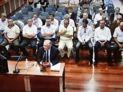 El alcalde de Alhaurín el Grande en la primera sesión del juicio del 'caso Troya'.