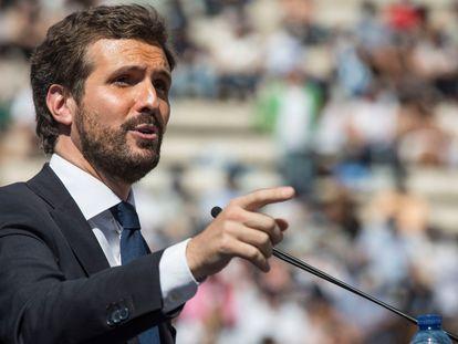 El líder de la oposición, Pablo Casado.