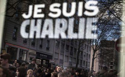 Manifestación en París el domingo en apoyo de 'Charlie Hebdo'.