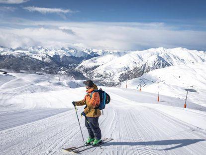 Pista de esquí en Baqueira Beret (Lleida).