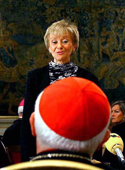 La vicepresidenta Fernández de la Vega, en la embajada de España en la Santa Sede, en marzo de 2006.