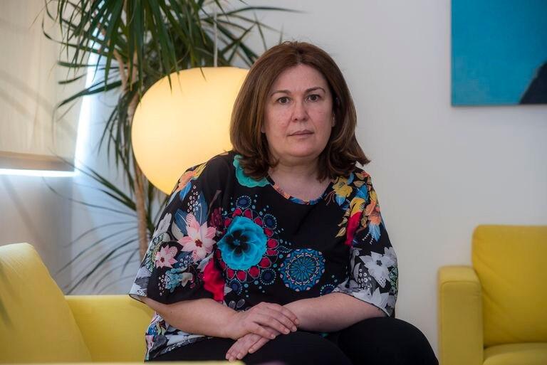 La alcaldesa de Alcorcón, Natalia de Andrés, en su despacho oficial.