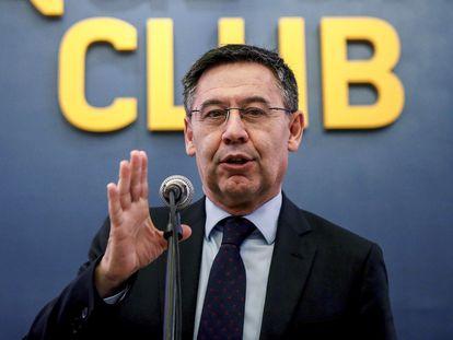 El presidente del FC Barcelona, Josep Maria Bartomeu, en una imagen de archivo.