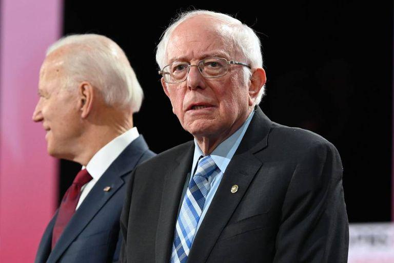 Los precandidatos demócratas Joe Biden y Bernie Sanders.