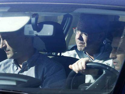 Madrid Francisco Granados en un coche de la Guardia Civil.