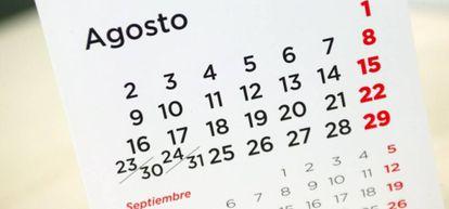 Calendario laboral.