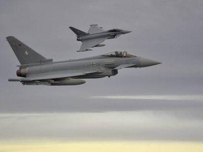 Dos Eurofighter, sobre el mar Báltico el pasado noviembre.