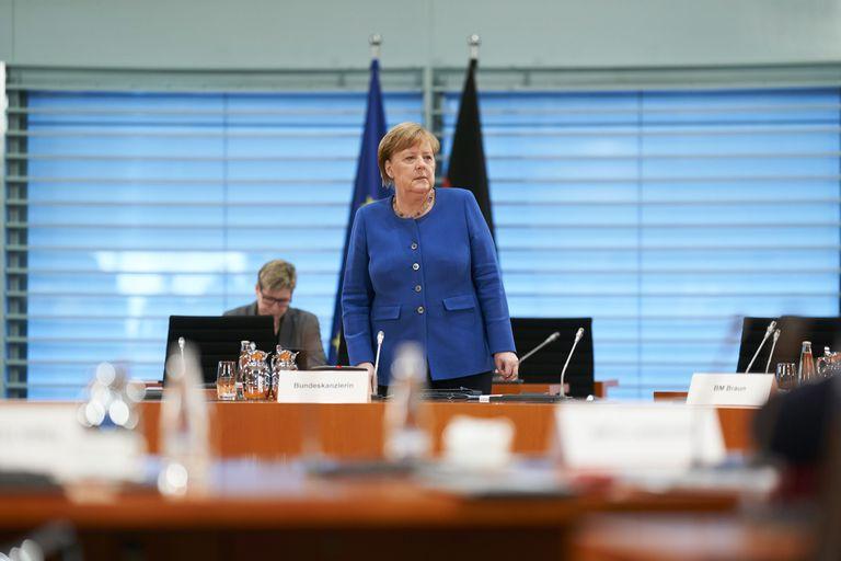 La canciller de Alemania, Angela Merkel, este miércoles, en Berlín.