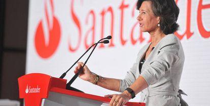 La presidenta del grupo Santander, Ana Botín. EFE