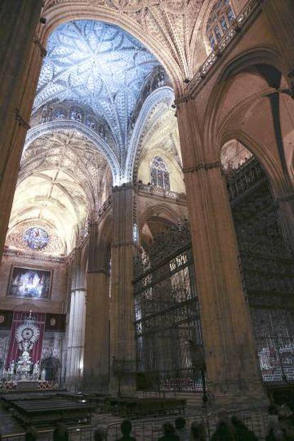 Interior de la catedral de Sevilla.
