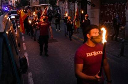 Un momento de la marcha ultra de España 2000.