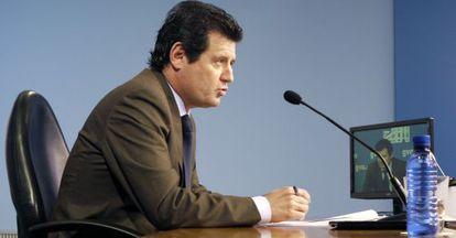 El vicepresidente, José Ciscar, tras el pleno del Consell.