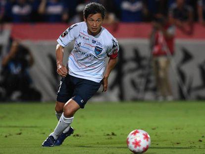 Kazuyoshi Miura en un partido del pasado mes de agosto.