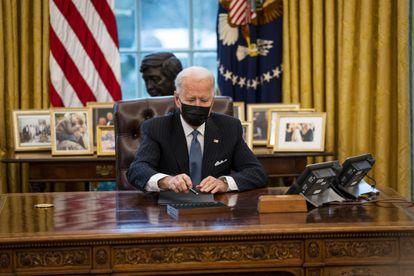El presidente Joe Biden, este lunes en la Casa Blanca.