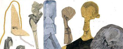 De izquierda a derecha, arriba: Voltaire, Wittgenstein, Ortega y Gasset, Séneca y Maquiavelo; debajo, Nietzsche y Marx.
