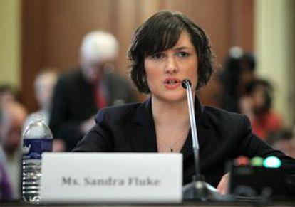 Sandra Fluke testifica sobre los anticonceptivos en el Congreso de EE UU.