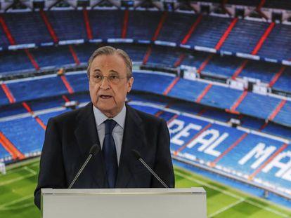 El presidente del Real Madrid,Florentino Perez