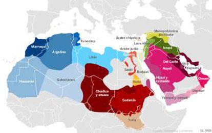 Gráfico | Todos los dialectos del árabe