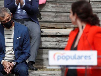 Toni Cantó en marzo de este año durante la presentación de la candidatura de Isabel Díaz Ayuso para las elecciones a la Asamblea de Madrid.