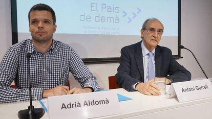 Antoni Garrell (derecha) y Adrià Aldomà, en la presentación de la plataforma El País de Demà.