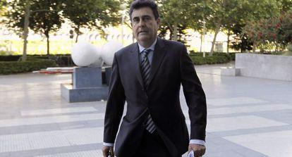 Luis Lobón, este lunes en la Ciudad de la Justicia de Valencia.