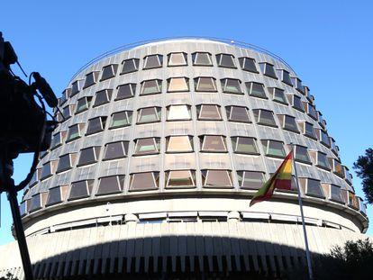 Fachada del Tribunal Constitucional, en Madrid.