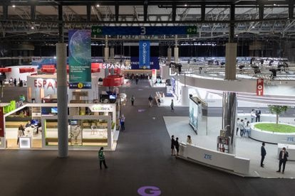 Third day of the Mobile World Congress at the Fira de Barcelona in L'Hospitalet.